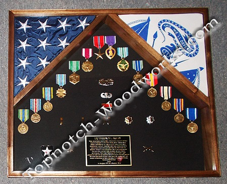 2 flag Army shadow box