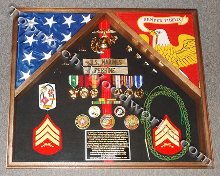 2 flag case and shadowbox