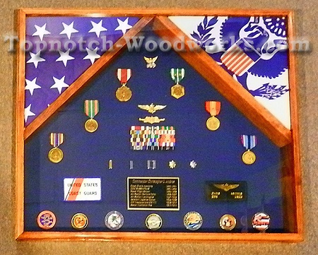 2 flag display case