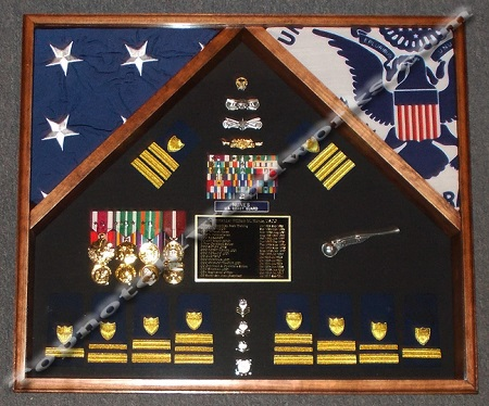 2 flag shadow box
