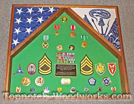 Army 2 flag shadow box Army flag