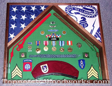 Army Airborne military shadow box