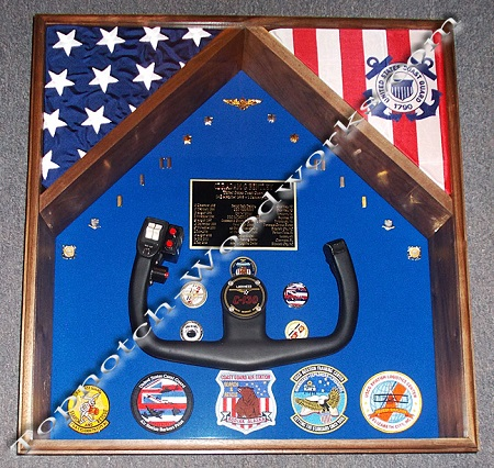 Custom 2 flag shadow box