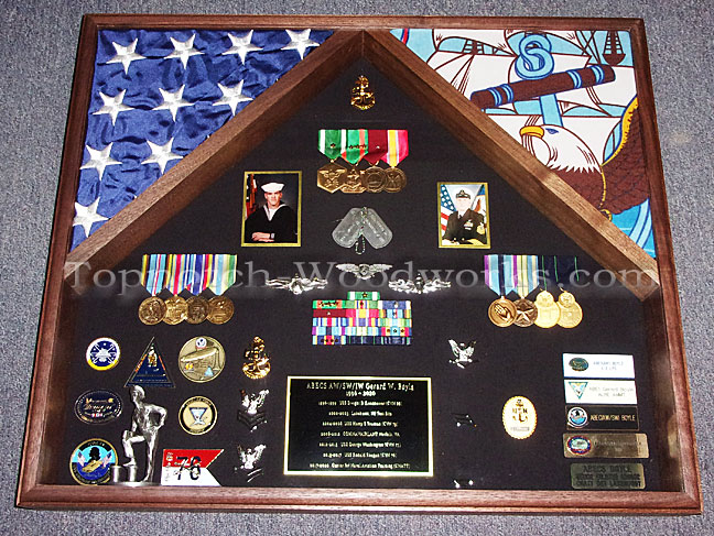 Lone sailor military shadow box us Navy