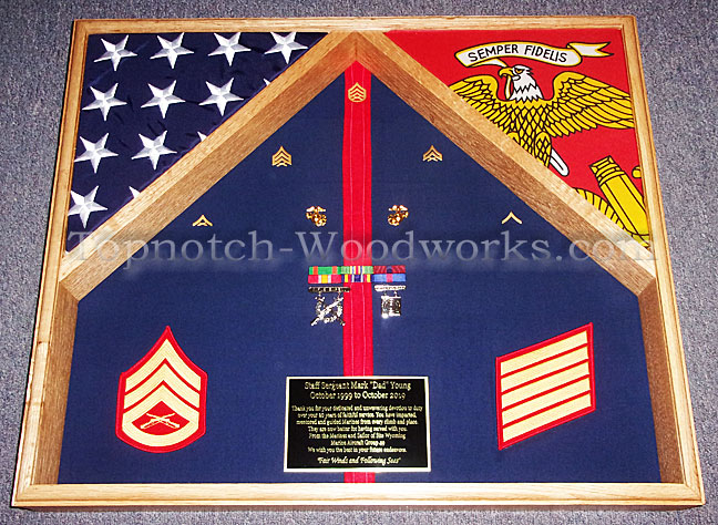 Marine corps reserve militray shadow box