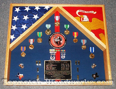 Marine officer shadow box