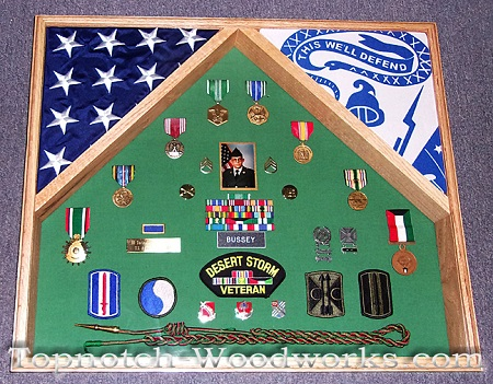 U.S. Army militray shadow box