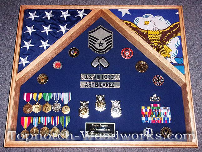 US Air force 2 flag shadow box
