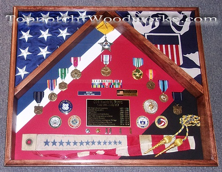 US Army 2 flag shadow box