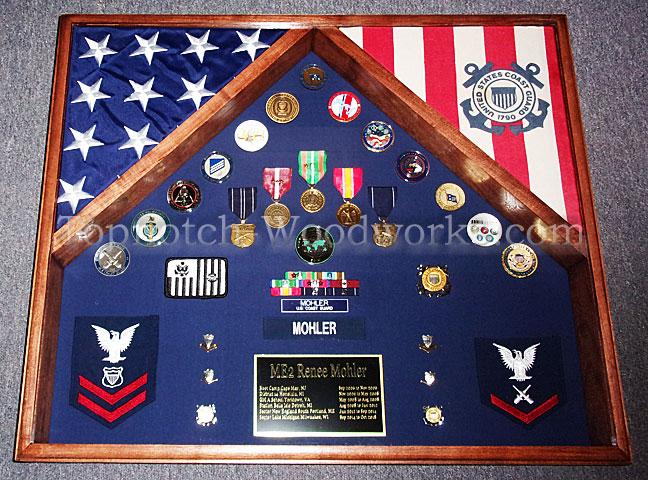 US Coast Guard Shadow box 2 flag
