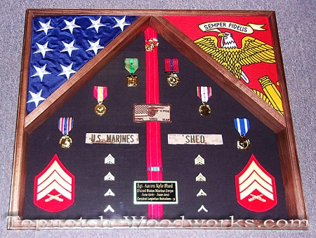 US Marine 2 flag shadow box