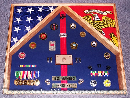 US Marines Officer shadow box