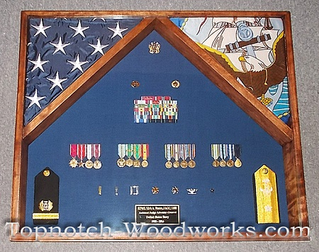 US Navy double flag case