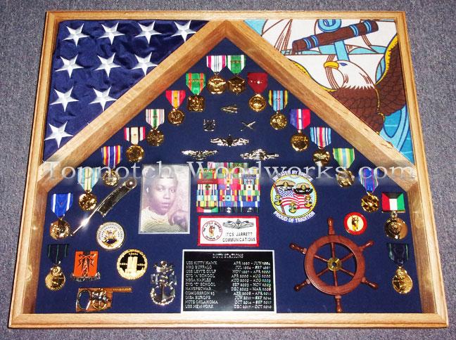 US Navy retirement shadow box