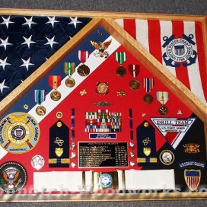 USCG 2 Flag Shadow Box