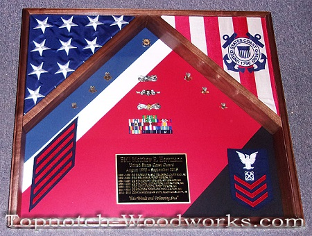 USCG Racing stripe shadow box