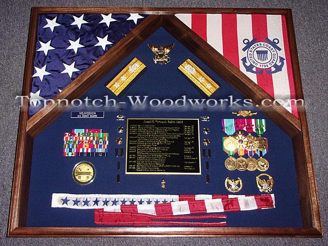 USCG Shadow box for pennant flag