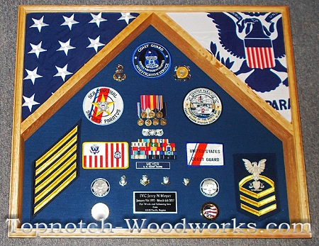 USCG law enforcement shadow box