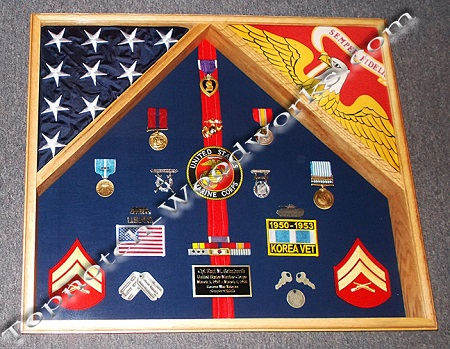 2 Flag Military Shadow Box By Topnotch Woodworks