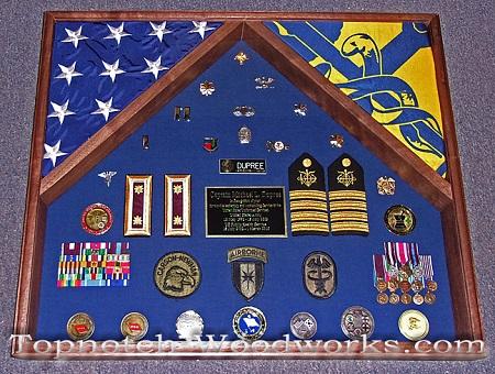 USPS 2 flag shadow box