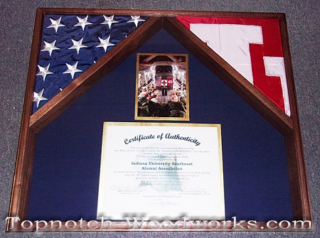 University flag shadow box