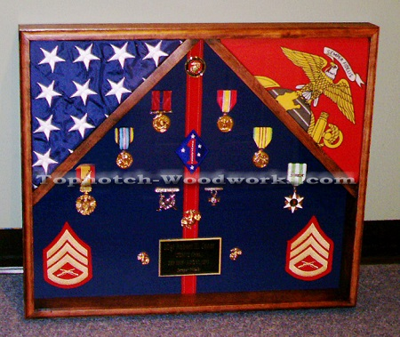 Veitnam flag display case