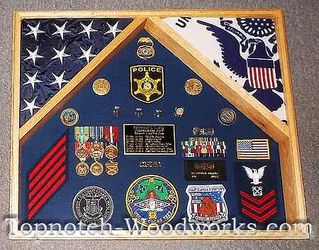 army 2 flag shadow box
