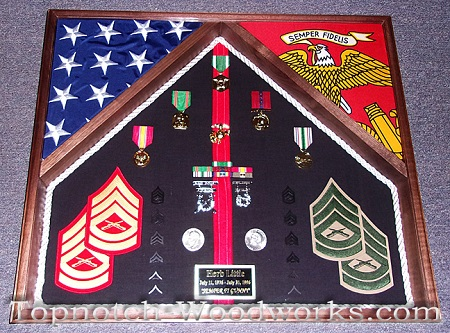 marine shadow box 2 flags
