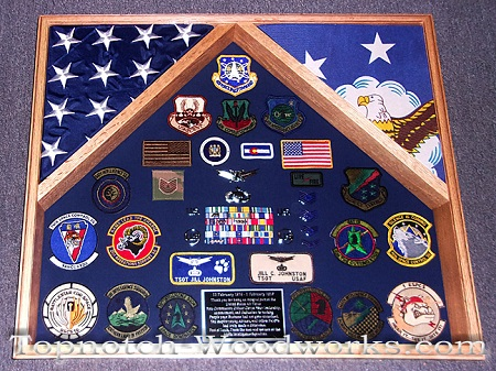 us air force 2 flag shadow box