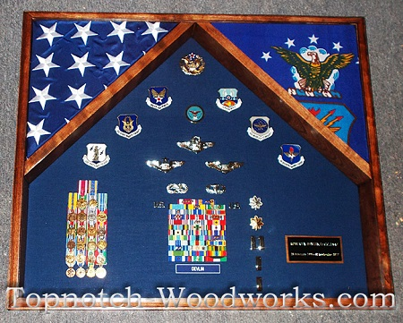 us air force shadow box