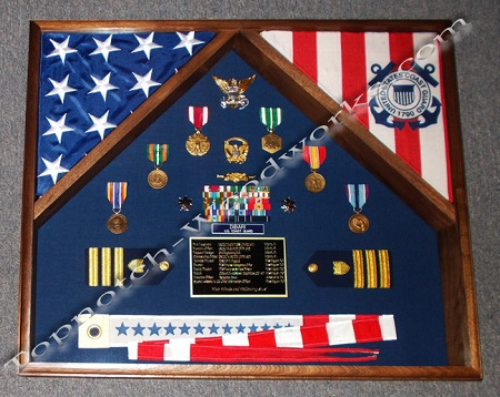 us navy double flag shadow box