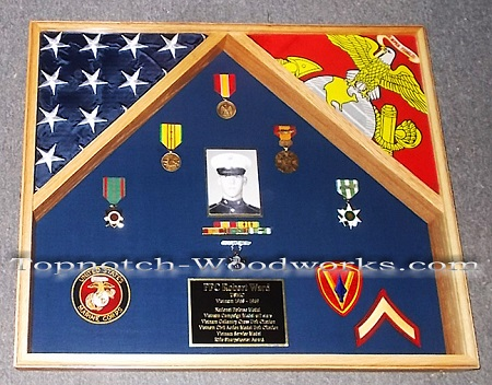 vietnam veteran shadow box
