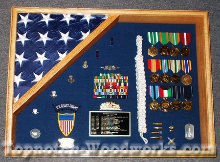 18x24 medal and flag display case