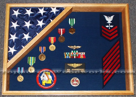 18x24 military shadow box and flag display case 3