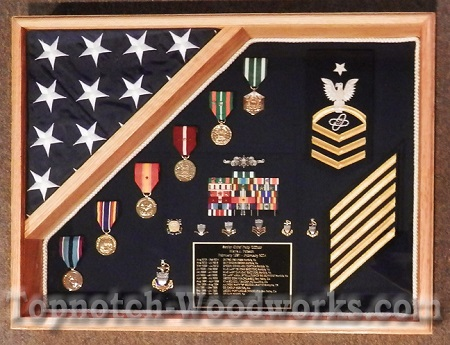 18x24 rectangle  shadow and flag display