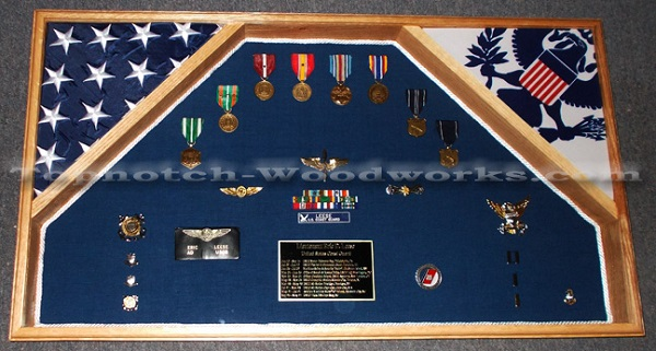 2 flag USCG shadow box
