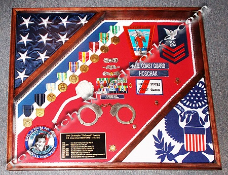 2 flag cutter shadow box