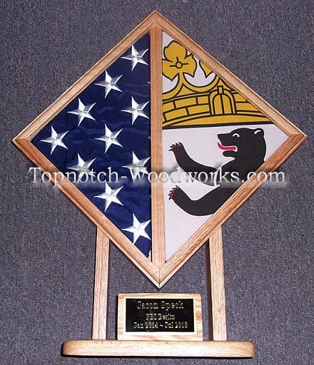 2 flag display case