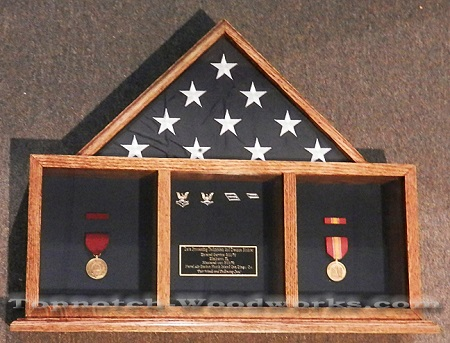 3 Bay mantle shadow box
