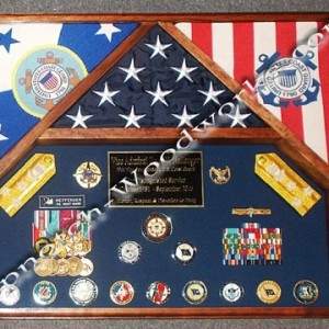 3 flag military shadow box  for Admirial