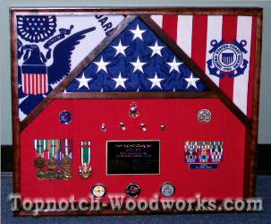 3 flag military shadow box www.topnotch-woodworks.com