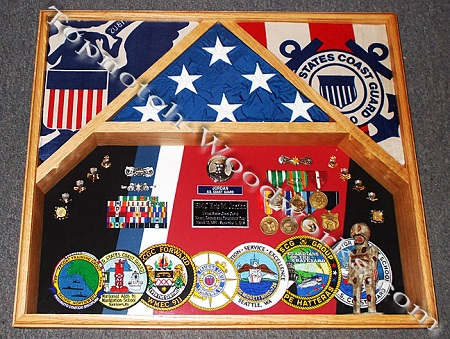 3 flag military shadow box