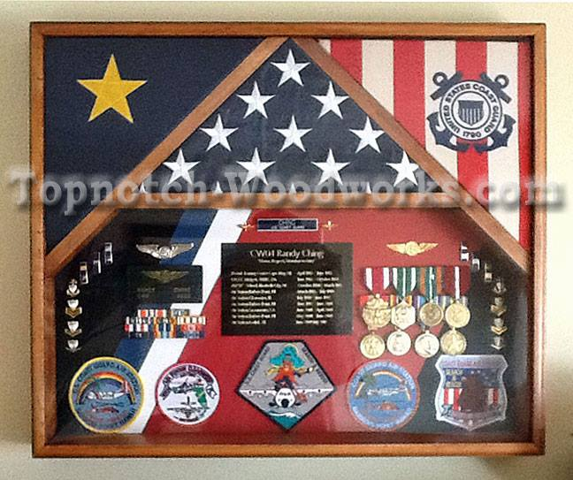 3 flag shadow box 548