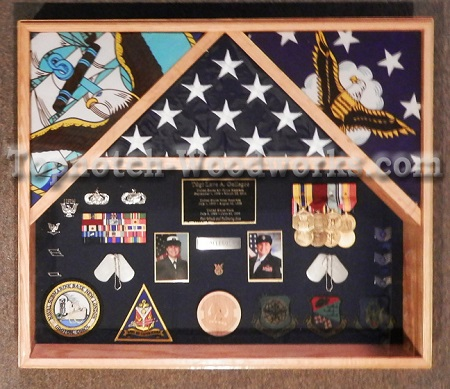 3 flag shadow box