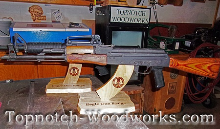 AK47 rifle display stand