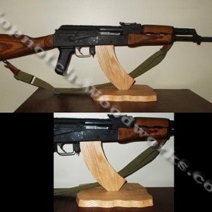 AK47 rifle display stand