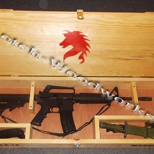 AR15 display case and wood crate