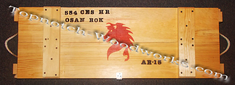 AR15 wooden shipping crate