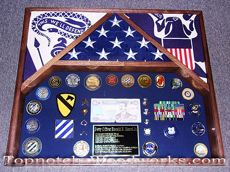 Army 3 Flag Shadow box