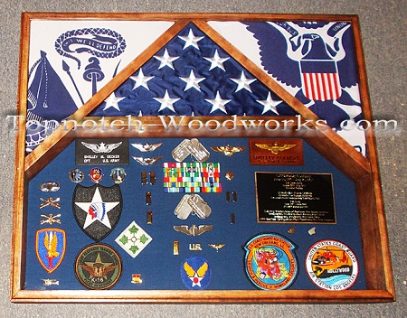 Army 3 flag Military Shadow box